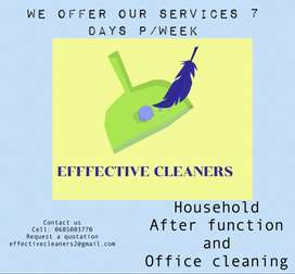 All cleaning services required we offer !7 days per week