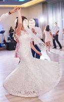 Suknia ślubna krój Amadis koronka Vindsor (rozmiar 38/40)