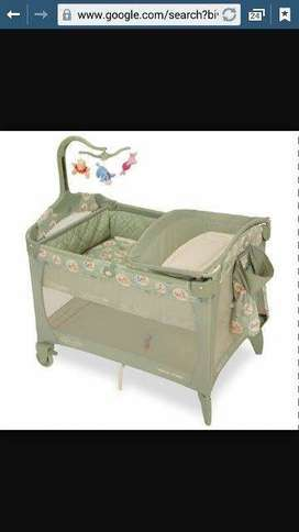 Graco Winnie The Pooh Camp Cot with extras for sale