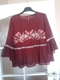 Bluzka bordowa jak Zara