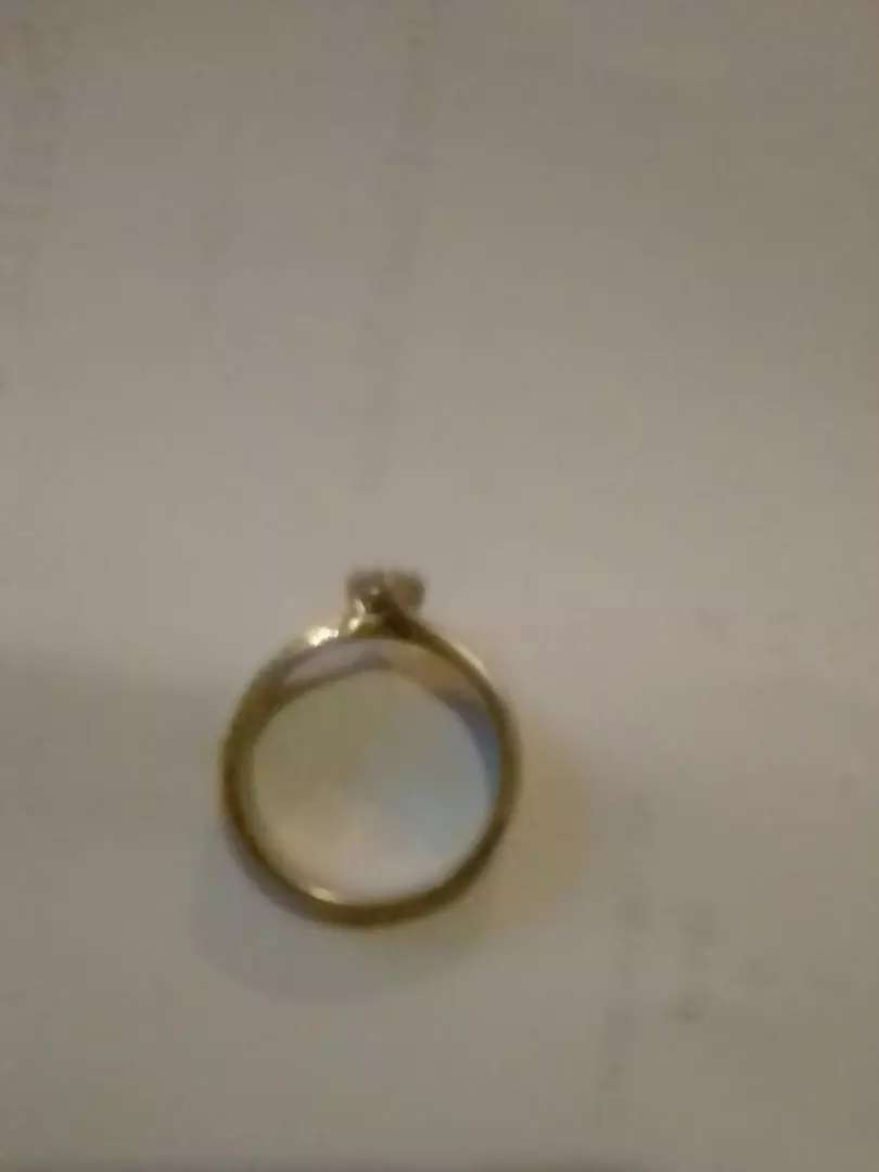 Beautiful silver engagement ring with tiny diamond (925) 0