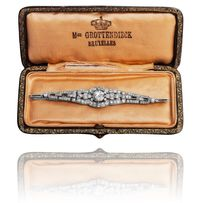 Bransoletka z diamentami ~3.82ct wykonana z platyny