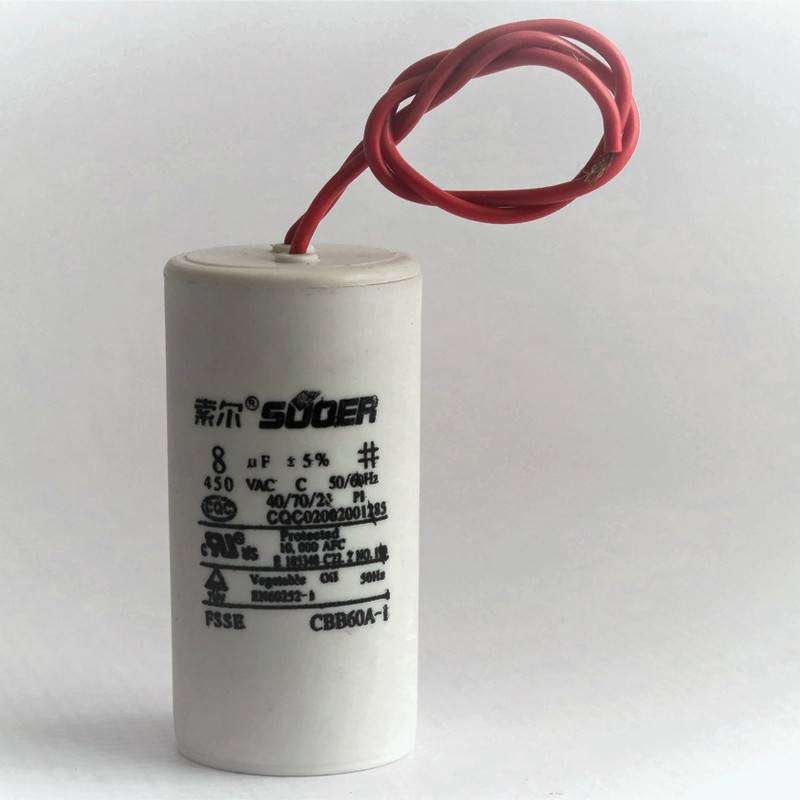 High Quality Home Appliance Capacitor 8uF 450VAC