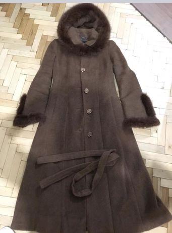 Зимнее шерстяное пальто S Киев - изображение 1