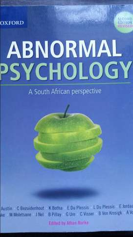 Abnormal Psychology (2nd ed.) University Textbook for sale