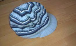 czapka zimowa z daszkiem rozm. 48-50 cm