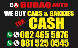 WANTED WANTED FOR CASH$$$ CARS,BAKKIES,TRAILERS AND CANOPIES