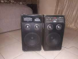 Dixon 1800w speakers with USB port,USD memory card slot.
