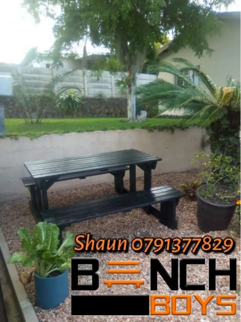 Braai and patio benches