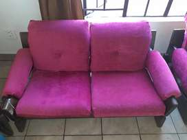 Pink wooden lounge