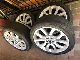 Land rover Range rover rims wheels and tyres