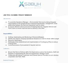 Cleaning Project Manager