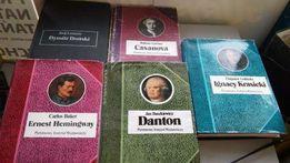 "Seria ""Biografie sławnych ludzi"" 6sztuk Casanova, Danton, Hemingway"