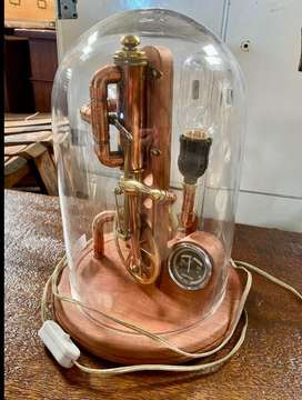 Exquisite Steampunk Copper and Brass lamp