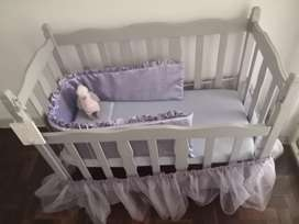 Cot and rocking chair
