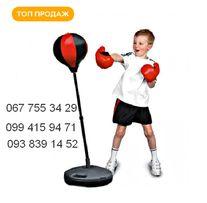Боксерский набор груша на стойке и перчатки для бокса Отличный подарок