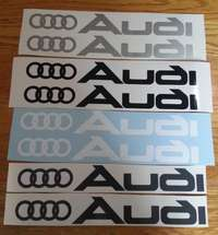 Image of Set off 2 Audi logo side skirt decals graphics stickers