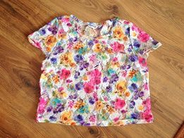 Kolorowy top siatka w kwiaty New Look XS