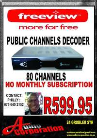 Image of Audio Corp: Free Satellite Tv No monthly Costs. 60 + Channels