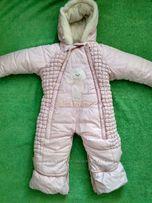 Детский зимний комбинезон-трансформер со съемной овчиной
