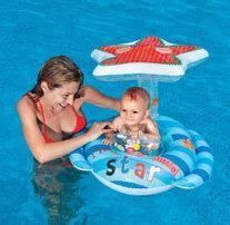 Круг-плот Intex надувной детский с навесом Маленькая Звезда