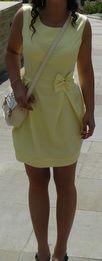 Sukienka żółta z kokardką rozm M