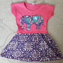 Платье на девочку 3-4 года со слоном