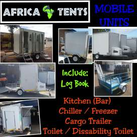 High Quality Mobile VIP Toilets, Freezers, Kitchens, etc. On Sale!