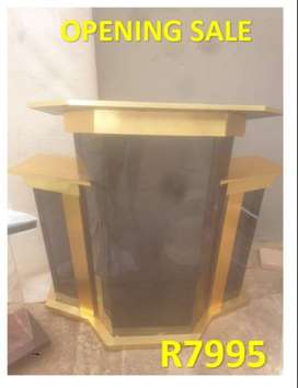 Golden Wood Tinted Perspex Church Lectern
