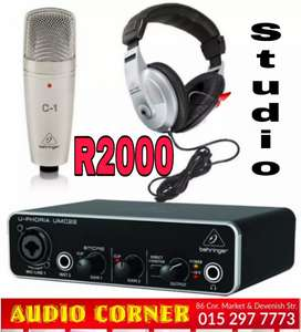 Behringer Recording package New