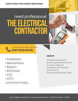 All electrical single and 3 phase services