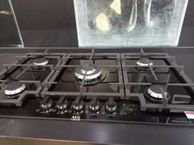 Aeg 90cm Gas on Glass Hob