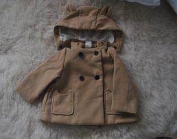 Фирменное милое пальто для девочки Н&М