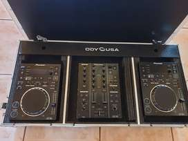 Pioneer CDJ 350 and DJM 350 with case for sale. Great condition