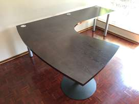 Dark Laminate Executive Desk