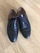Кожаные туфли 39-40 р 26,5 см стелька
