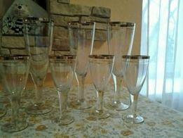набор бокалов- 11 штук из цветного стекла