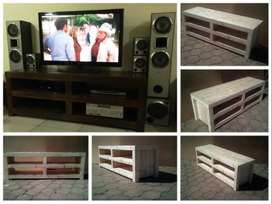 TV display unit Farmhouse series 1750 - Stained
