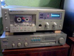 Магнитофон кассетный + усил + колонки