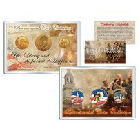 Набор Цветных Позолоченных Юбилейных Монет (1976)