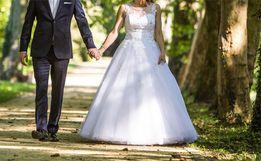 Oryginalna suknia ślubna Visual Chris Rossa 581 z 2016 roku! Princessa