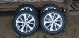 16 inch corolla rims with 80% tyres all clean