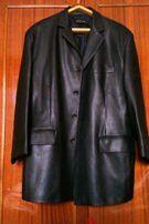 Куртка пиджак мужской из качественого кожезаменителя р. XXL