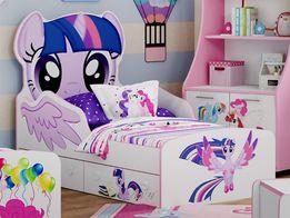 Кроватка для девочки в НАЛИЧИИ розовая Литл Пони Пинки Пай Little Pony