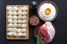 Пельмени, вареники, домашняя яичная лапша