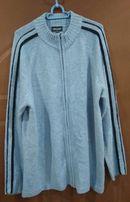 Sweter męski BIAGGINI z wełną roz. XXL na suwak