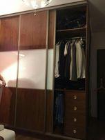szafa z drzwiami przesuwnymi brązowo-biała 263x210x69cm