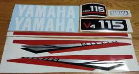 Yamaha V4 115 decals stickers graphics kit