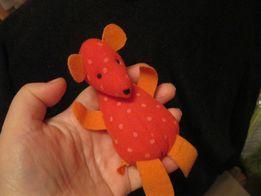 детям мягкая игрушка красная мышь в горошек мышка крыса мышонок