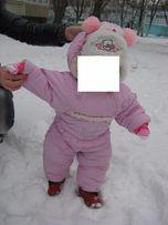 Зимний комбинезон на натуральной овчине
